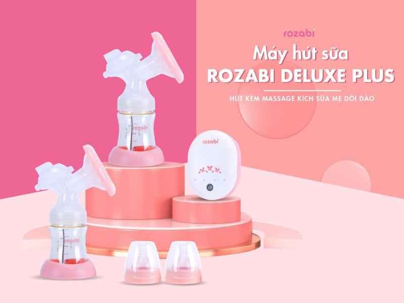 Máy hút sữa điện đôi Rozabi Deluxe Plus thiết kế hiện đại, hoạt động thông minh