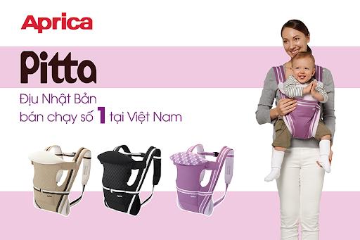 Địu Aprica Pitta 4 tư thế địu cho bé sơ sinh đến 36 tháng tuổi