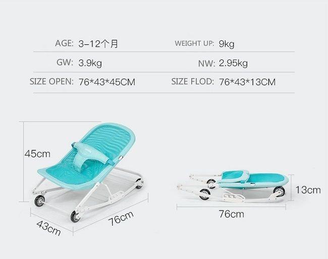 Kích thước ghế rung bập bênh cho bé Seebaby R1