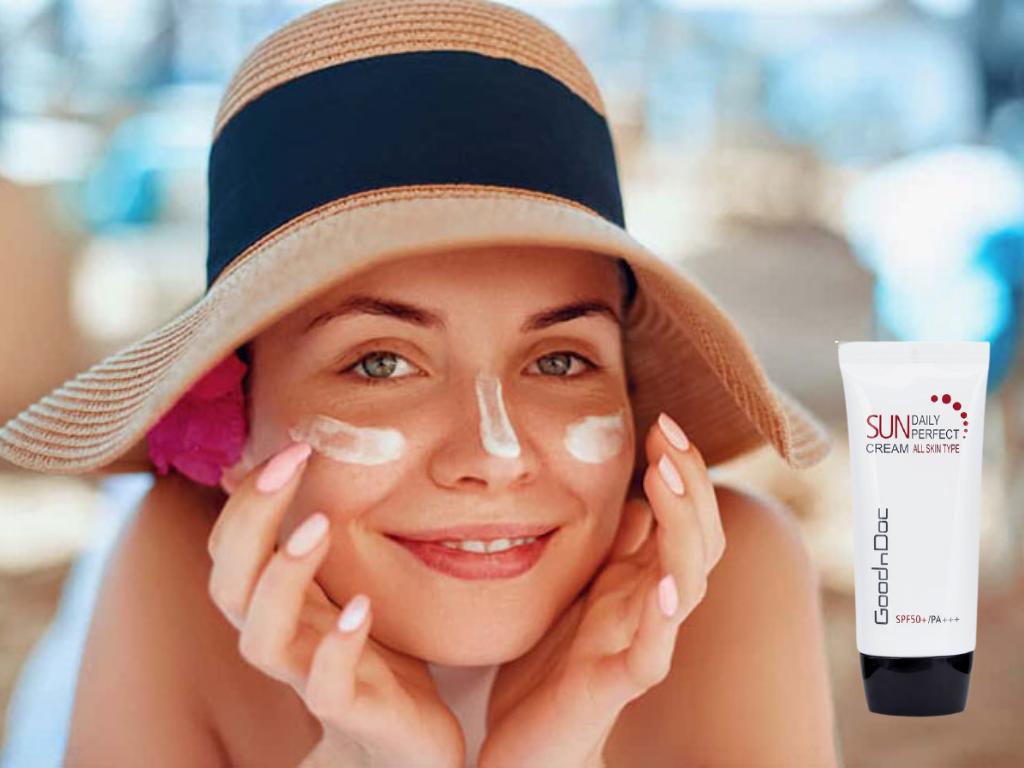 Kem chống nắng GoodnDoc Daily Perfect Sun Cream SPF 50 chăm sóc da sạm nám hiệu quả