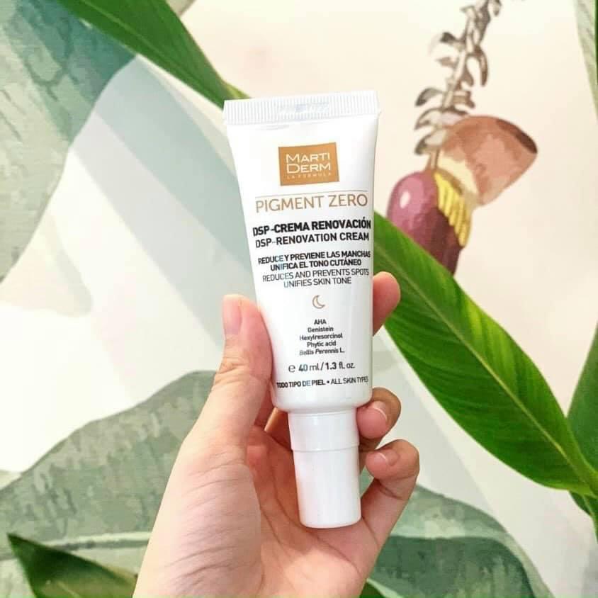 Kem dưỡng MartiDerm Pigment Zero DSP Renovation Cream hỗ trợ dưỡng sáng da tự nhiên