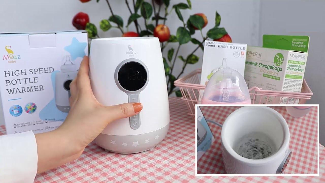 Máy tiệt trùng Moaz Bebe MB021 hỗ trợ hâm nóng sữa tiện lợi