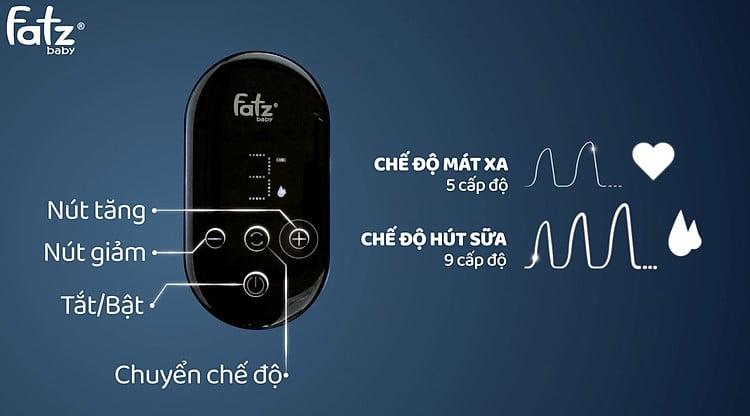 Máy hút sữa điện Fatzbaby Chorus 2 hỗ trợ màn hình cảm ứng