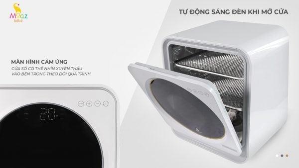 máy tiệt trùng Moaz BéBé MB025 sấy khô và bảo quản bình sữa bằng tia UV an t.oàn