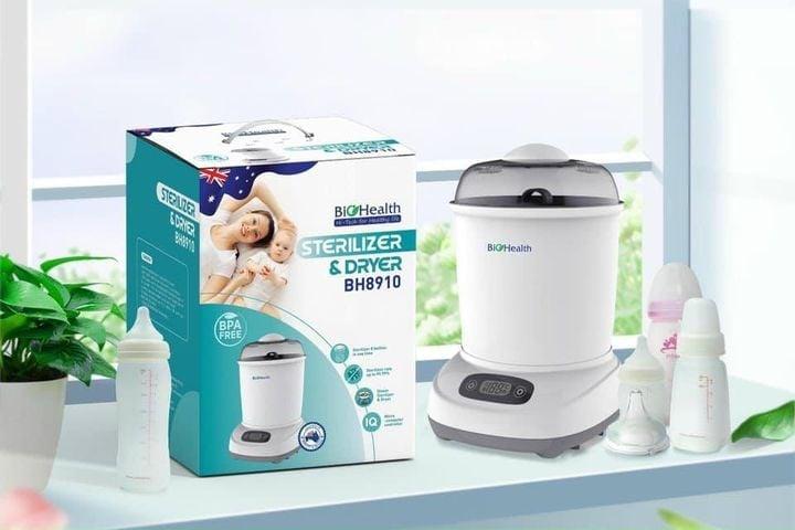 Máy tiệt trùng và sấy khô bình sữa BioHealth BH8910 của Úc
