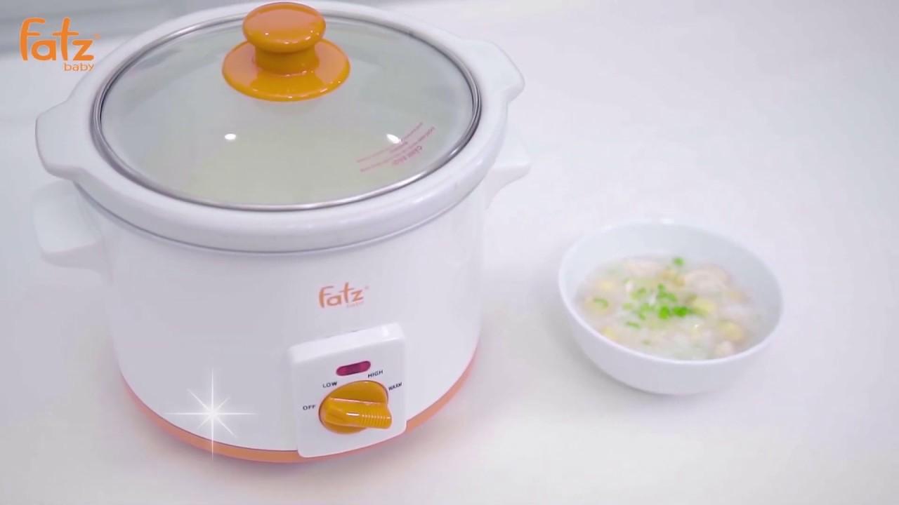 Nồi nấu cháo chậm Fatzbaby Slow 3 FB9025MH cho hương vị đạt chuẩn, đủ dinh dưỡng