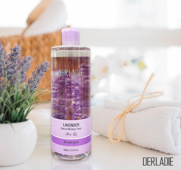 Nước hoa hồng Derladie Lavender Natural Moisture cho da dầu mụn