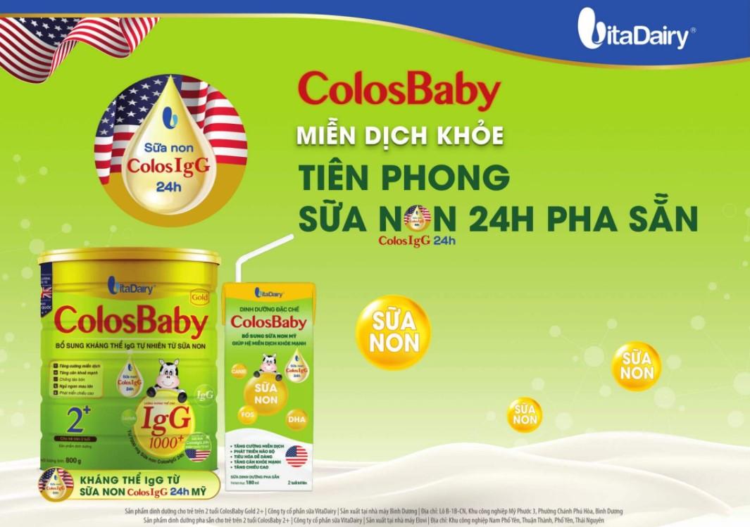 Sữa non Colosbaby IQ Gold 2+ cho bé từ 2 tuổi trở lên (800g)