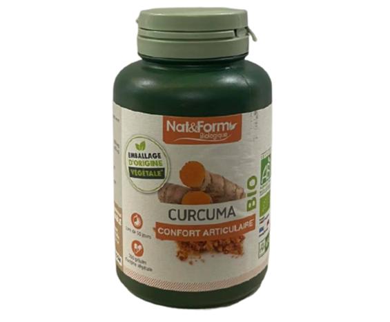 Viên tinh nghệ hữu cơ Curcuma Bio Nat&Form của Pháp