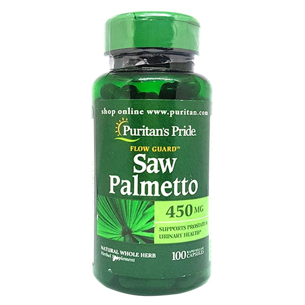 Viên uống hỗ trợ tuyến tiền liệt Saw Palmetto 450mg Puritan's Pride