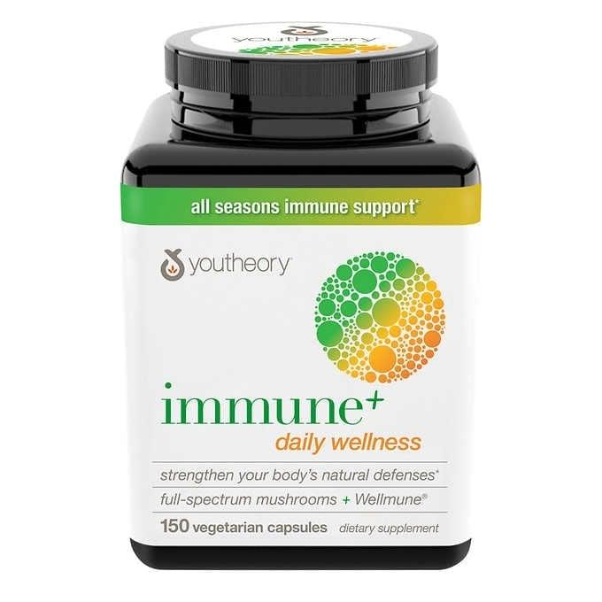 Viên uống Youtheory Immune+ hỗ trợ tăng cường sức đề kháng