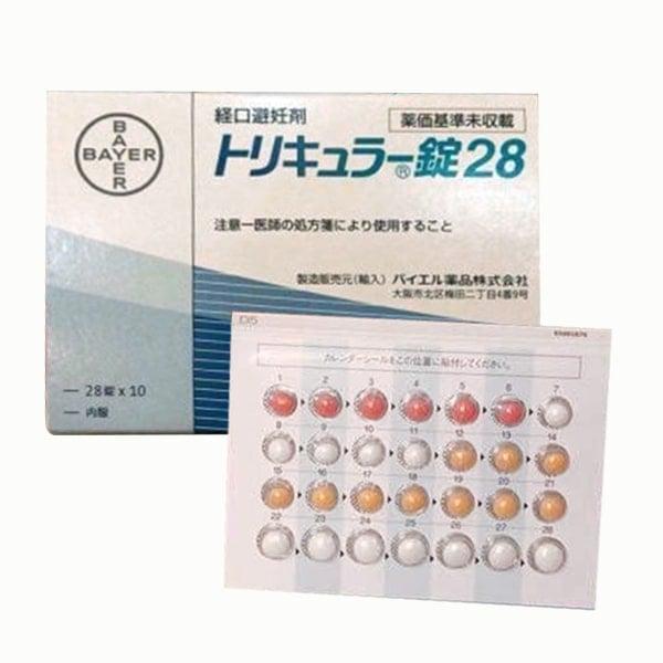 Viên uống hỗ trợ tránh thai hàng ngày Triquilar Bayer Nhật Bản