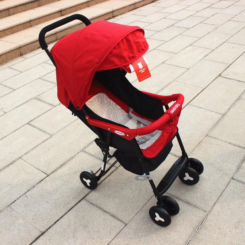 Xe đẩy 1 chiều 2 tư thế Seebaby QQ2 màu đỏ