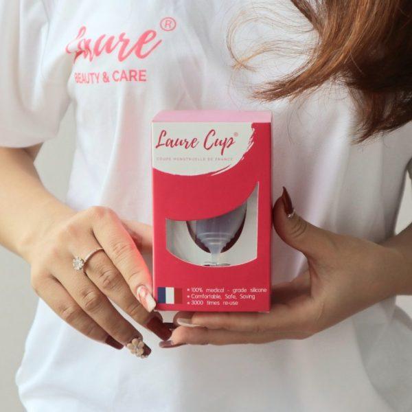 Cốc nguyệt san Laure Cup tặng ly tiệt trùng và gel rửa