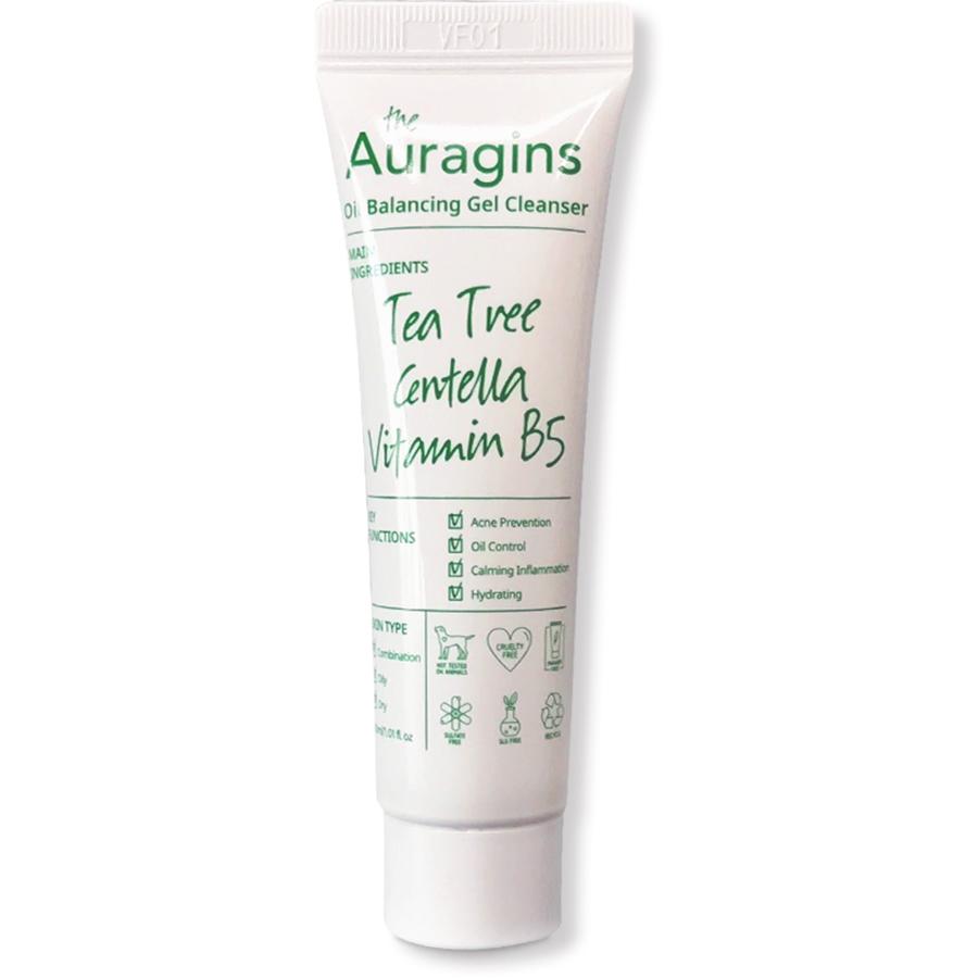 Gel rửa mặt chiết xuất tràm trà The Auragins Oil Balancing cho da dầu mụn tuýp 30ml