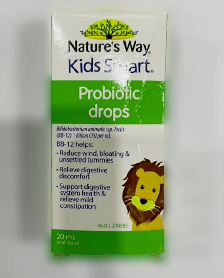 Men vi sinh dạng nước Nature's Way Kids Smart Drops Probiotic 20ml