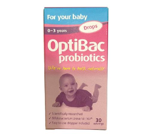 Men vi sinh Optibac màu hồng dạng giọt cho trẻ từ 0 - 3 tuổi