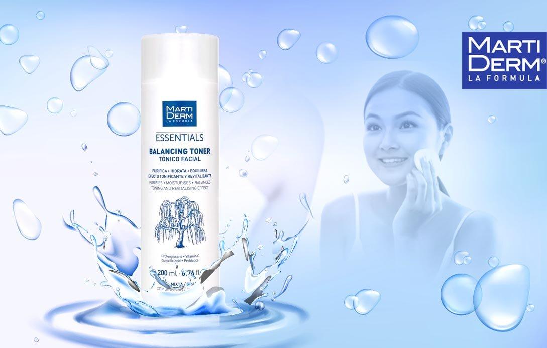 Nước cân bằng MartiDerm Essentials Balancing hỗ trợ làm sạch dịu nhẹ cho da