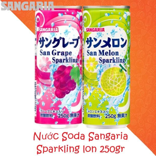 Nước Soda Sangaria Sparkling - bộ đôi vị nho và dưa lưới
