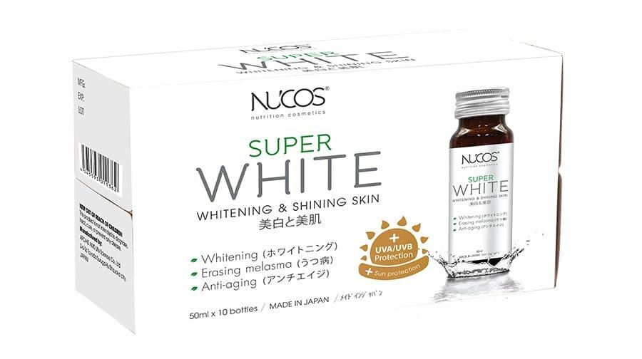 Nước uống hỗ trợ trắng da Nucos Super White