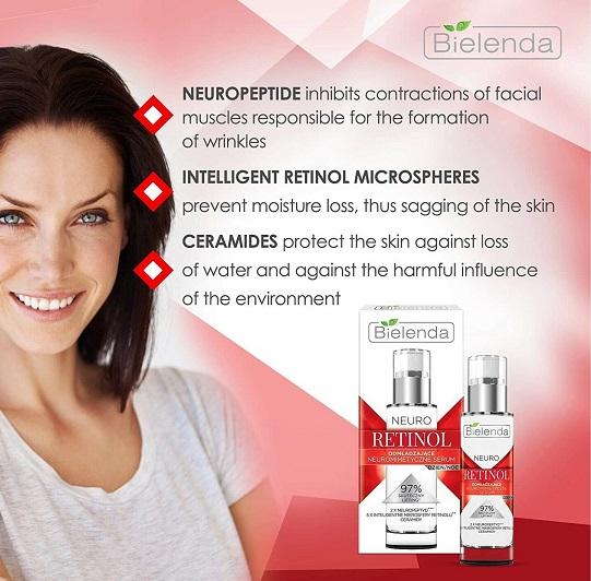 Serum dưỡng ẩm trẻ hóa Bielenda Neuro Retinol Advanced Moisturizing hỗ trợ dưỡng ẩm da toàn diện