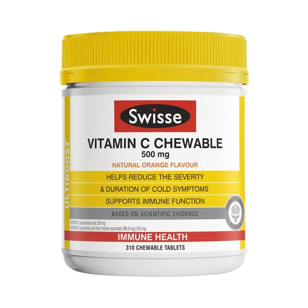 Viên nhai Swisse Vitamin C Chewable 500mg