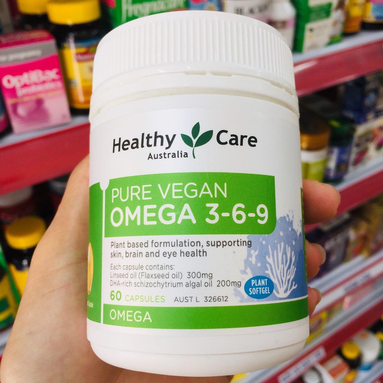 Omega 3 6 9 thực vật hữu cơ Healthy Care Pure Vegan Úc