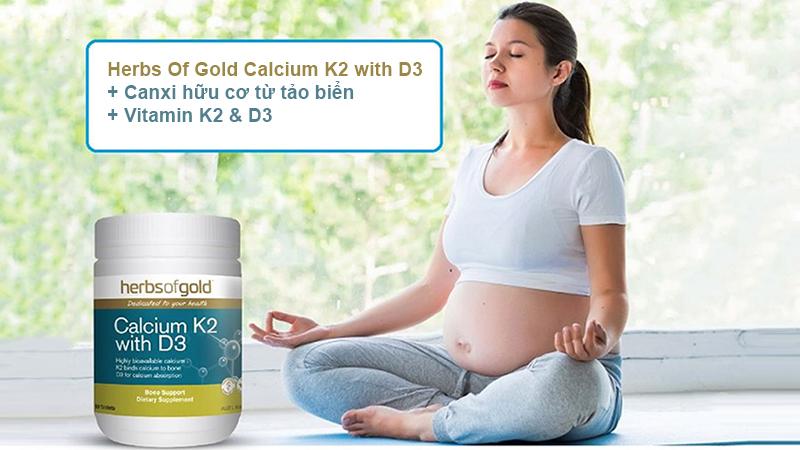 Viên uống hỗ trợ bổ sung Canxi Herbs Of Gold Calcium K2 With D3 hỗ trợ chăm sóc sức khỏe toàn diện