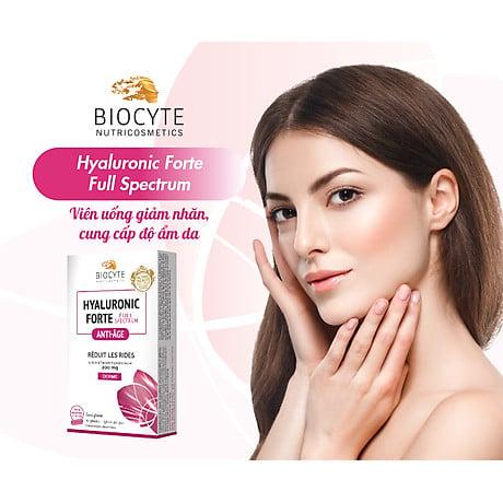 Viên uống Biocyte Hyaluronic Forte Full Spectrum hỗ trợ bảo vệ da toàn diện
