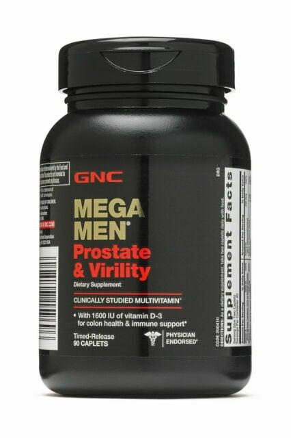 Viên uống GNC Mega Men Prostate and Virility hỗ trợ sức khỏe nem giới