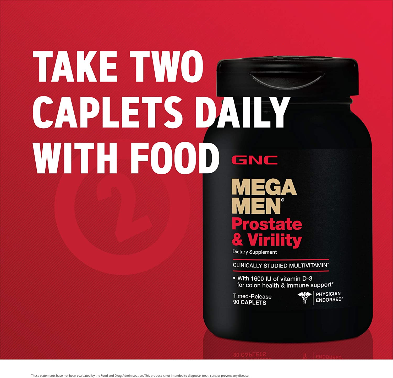 Viên uống GNC Mega Men Prostate and Virility nâng cao sức khỏe sinh lý với 2 viên mỗi ngày