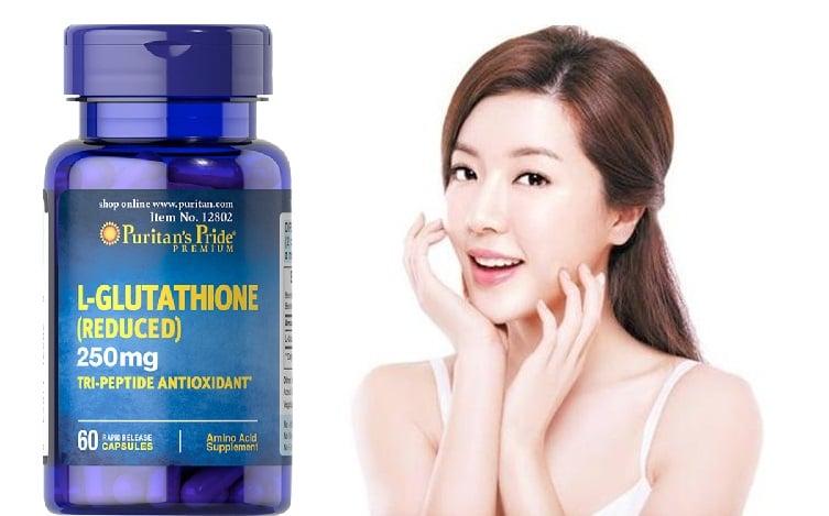 Viên uống Puritan's Pride Premium L-Glutathione hỗ trợ chắm sóc bảo vệ da toàn diện