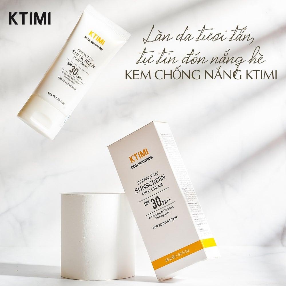 Kem chống nắng dưỡng trắng da Ktimi Perfect Uv Mild Cream