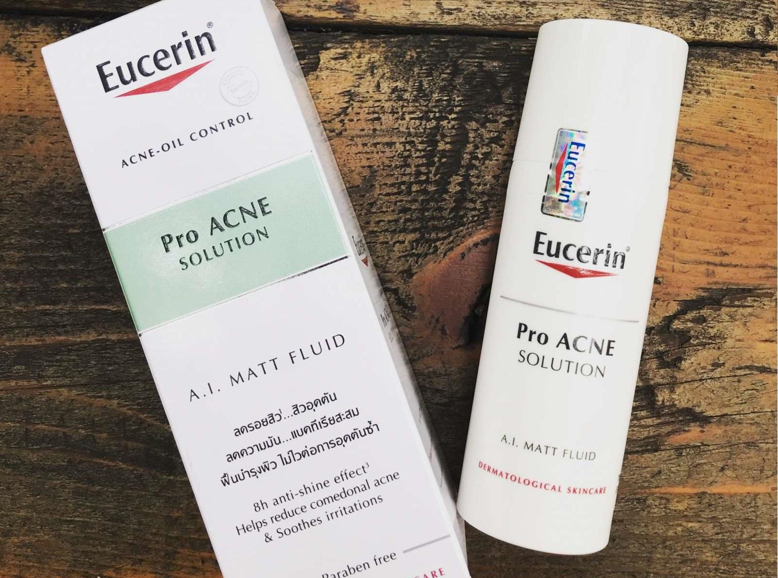 Kem dưỡng Eucerin Pro Acne Mattifying Fluid dịu nhẹ