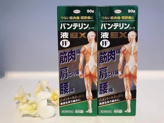 Lăn bôi giảm đau xương khớp Banterin Kowa EX W 90g Nhật Bản, giảm đau xương khớp,  Banterin Kowa EX W 90g