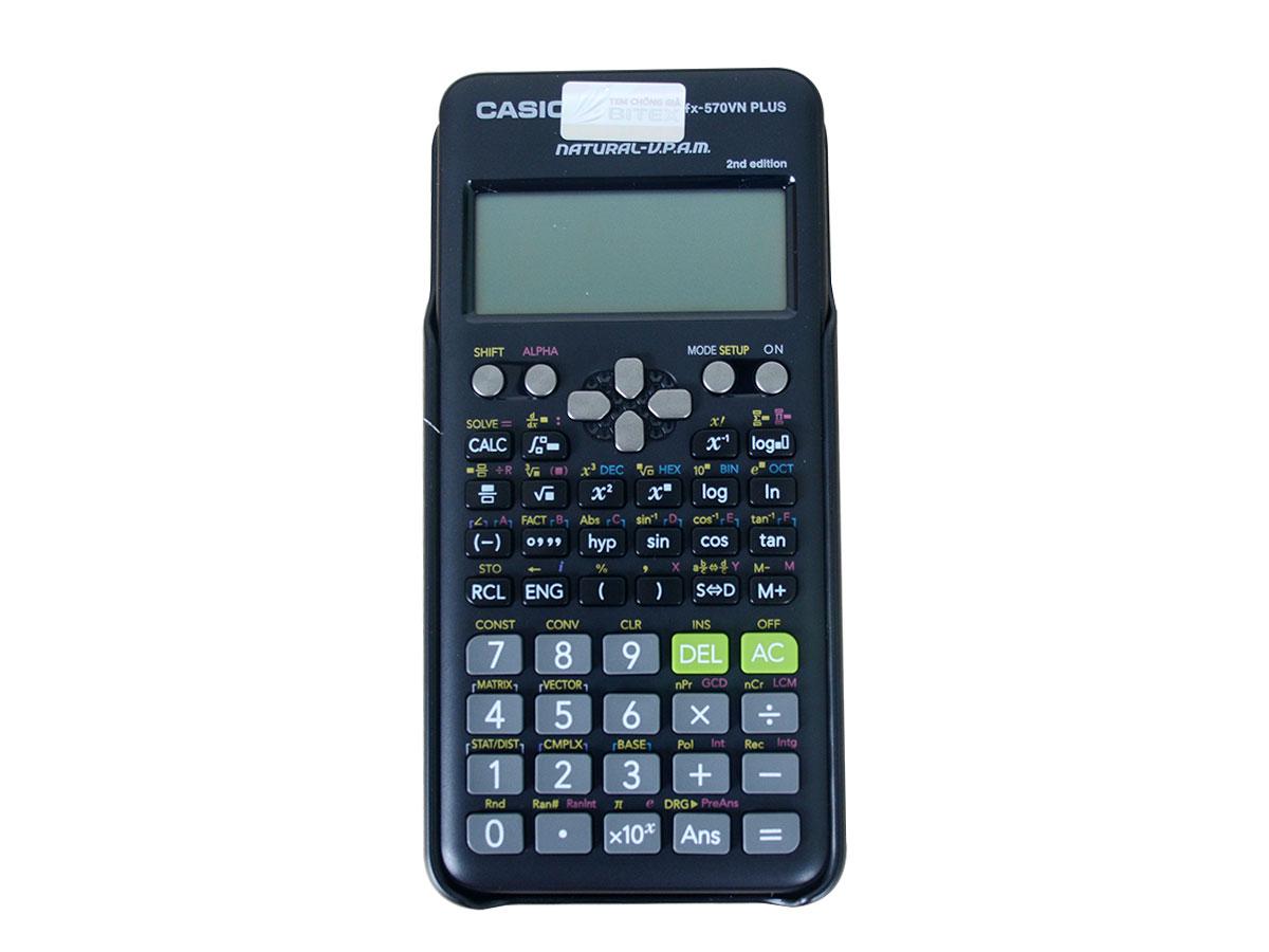 Máy tính bỏ túi Casio FX-570VN Plus chính hãng, bảo hành 7 năm
