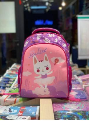 Balo đi học UEKhọa tiết mèo hồng cho bé