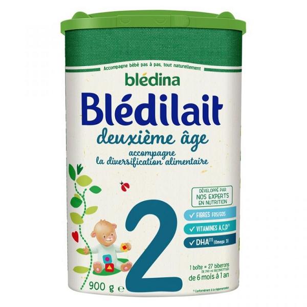 Sữa bột Bledilat Pháp số 2 cho bé từ 6 - 12 tháng tuổi 900g
