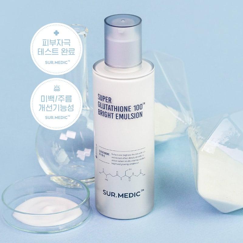 Sữa dưỡng trắng da Sur.Medic Super Glutathione 100 Bright Emulsion