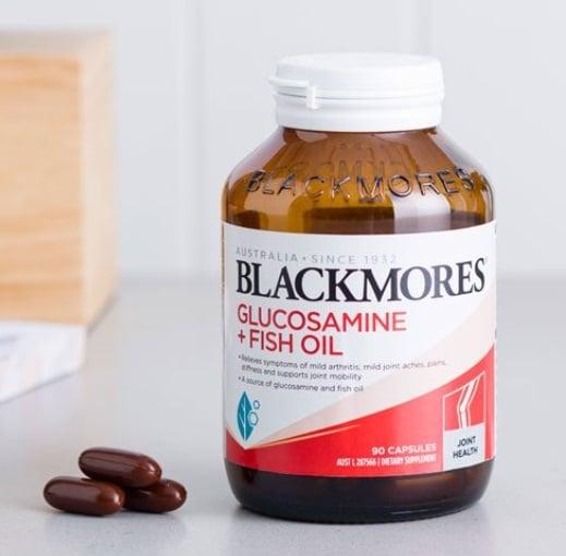 Viên uống Blackmores Glucosamine & Fish Oil Úc chính hãng lọ 90 viên
