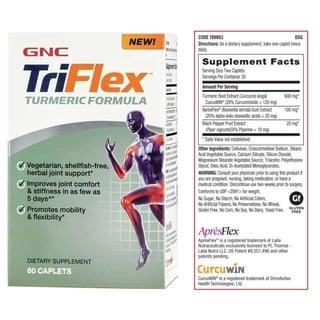 Viên uống hỗ trợ xương khớp GNC TriFlex Turmeric Formula 60 viên