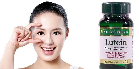 Viên uống bổ mắt Nature's Bounty Lutein hỗ trợ tăng cường sức khỏe thị lực, giảm nhức mỏi mắt