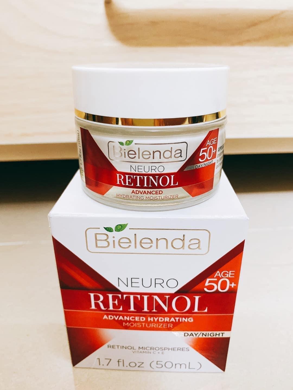 Kem dưỡng trẻ hóa da Bielenda Neuro Retinol hỗ trợ giảm nám, sang da, căng bóng da