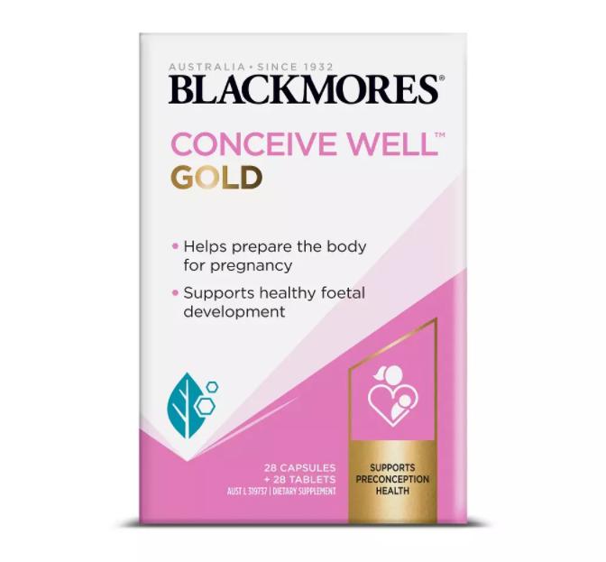 Blackmores conceive Well Gold tăng khả năng thụ thai mẫu mới