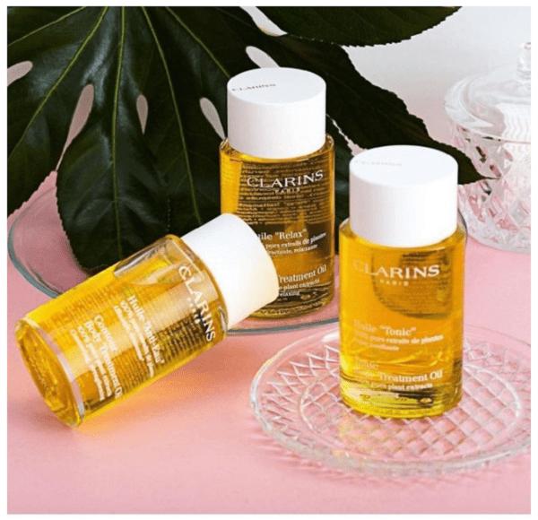 Dầu dưỡng thể Clarins Tonic Body Treatment Oil căng bóng mướt da