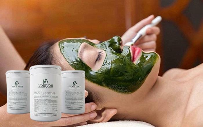 Mặt nạ tảo xoắn Volayon Spinnem Powder chăm sóc da cao cấp, thanh lọc da