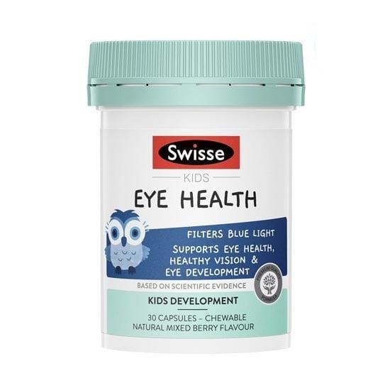 Viên nhai Swisse Kids Eye Health hỗ trợ bảo vệ thị lực cho bé
