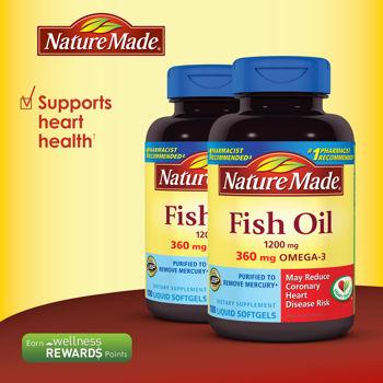 D u c omega 3 nature made 1200mg b m t kh e tim for Fish oil gout