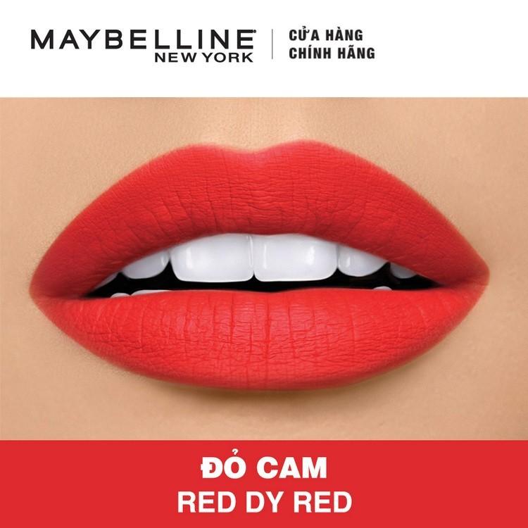 Son Lì Siêu Nhẹ Môi Maybelline New York Màu Đỏ 607 Red Dy Red 2
