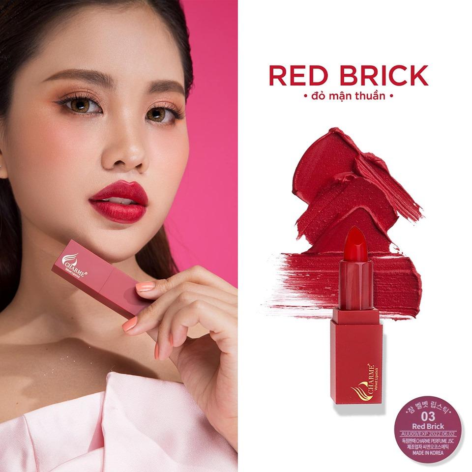 Son Lì Charme Mềm Mịn Như Nhung Velvet Lipstick Hàn Quốc 3